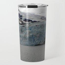 TEXTURES -- A Face of Portage Glacier Travel Mug