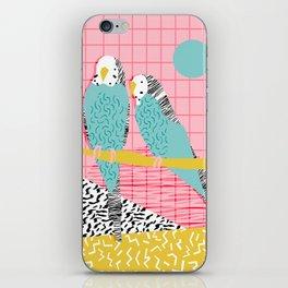 Hottie - throwback retro 1980s 80s style memphis dots bird art neon cool hipster college dorm art iPhone Skin