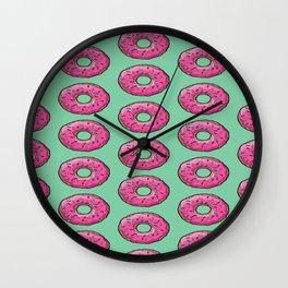 sprinkled PinkDonuts Wall Clock