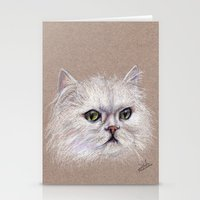 persian Stationery Cards featuring Persian cat by Pendientera