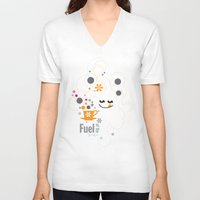 pocket fuel V-neck T-shirts featuring Fuel of  the day by inkdesigner