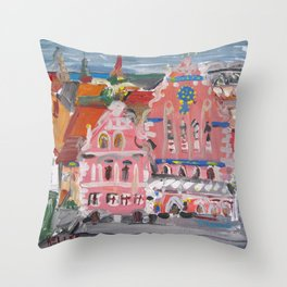 Houses of the Blackheads I Throw Pillow