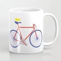 bike Mugs featuring Bike by Keep It Simple