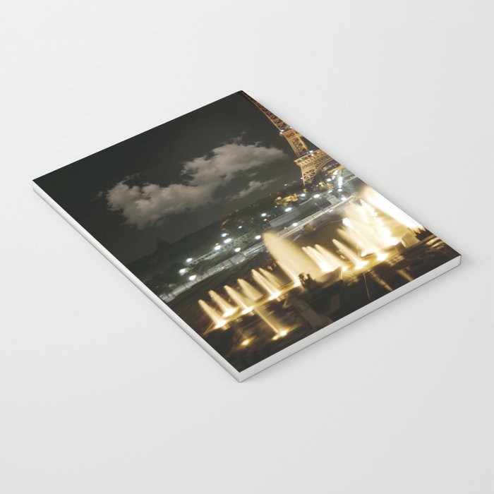 Eiffel Tower at Night Notebook