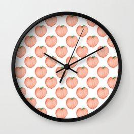 Watercolour Peach Wall Clock