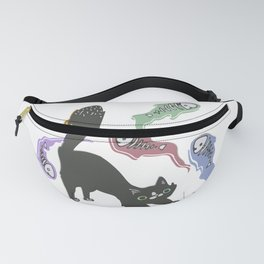 Cat wizard Fanny Pack