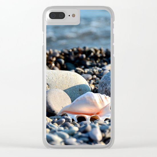Stones and shell. Sea Composition Clear iPhone Case