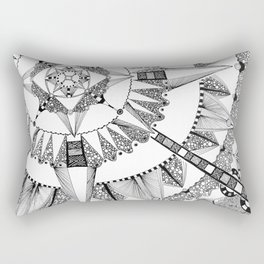 Vacuoles - Black and White Rectangular Pillow