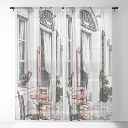 Amorgos Greece Sheer Curtain