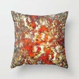 Under the red ocean Throw Pillow