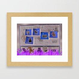Post-It Katz Framed Art Print