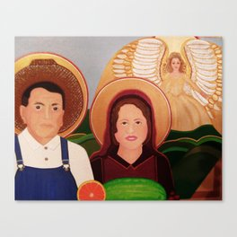 St. Isidore and St. Maria, Farm Workers' Saint  Canvas Print