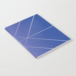 Geo Clock Indigo Background Notebook