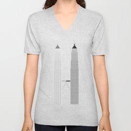 Petronas Twin Towers Unisex V-Neck