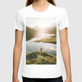 Switzerland Mountain Lake Sunrise - Landscape Photography T-shirt