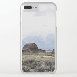 Mormon Row Clear iPhone Case