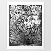 Attracted Passion. Art Print