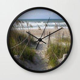 Peaceful Beach Scene Wall Clock