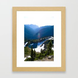 Unknown Lake, Dosewallips River, Olympis National Park Framed Art Print