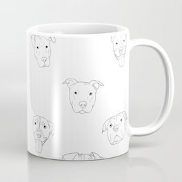 White pit bull love Coffee Mug