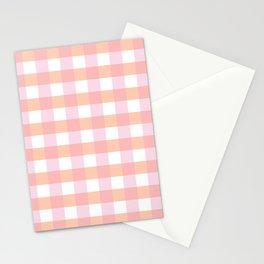 Blush Pink Plaid Stationery Cards