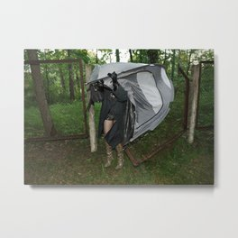 It's a Matter of Fact that it Always Rains on Tents Metal Print
