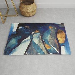 Cobalt Abstract Rug