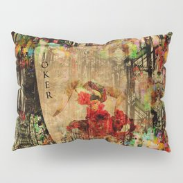 Abstract Vintage Joker card  Digital Art Pillow Sham