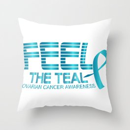 Ovarian Cancer Awareness Throw Pillow