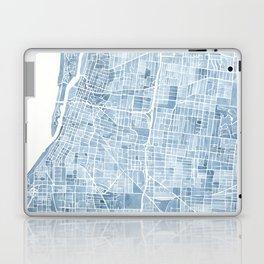 Memphis Tennessee blueprint watercolor map Laptop & iPad Skin