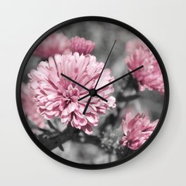 Blushing Gray Wall Clock