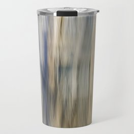 Soft Blue and Gold Abstract Travel Mug