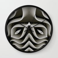 exo Wall Clocks featuring Exo-skelton 3D Optical Illusion by BohemianBound