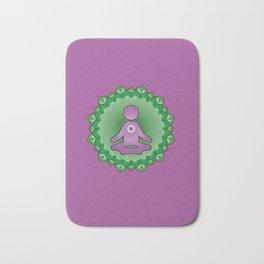 Mindful Yoga Pose Gift For Yogi and Yogini Bath Mat