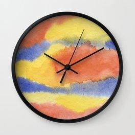 PRIMEVAL SKIES Wall Clock