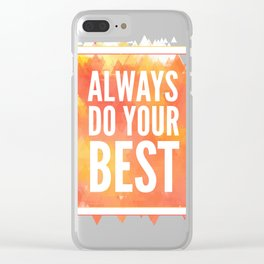 Motivation inks poster. Text lettering of an inspirational saying. Grunge paint vector element set. Clear iPhone Case