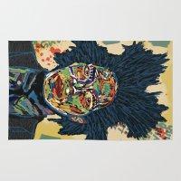 basquiat Area & Throw Rugs featuring BASQUIAT by Blaz Rojs
