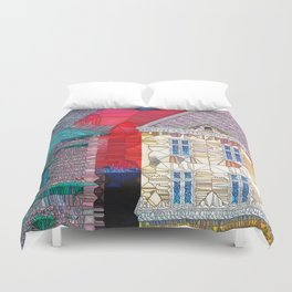 Welcome to the Neighborhood Duvet Cover