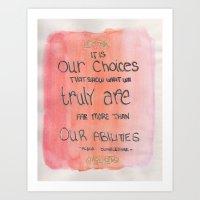 Our Choices Art Print