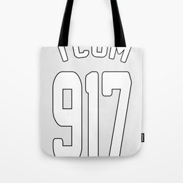 TCOM 917 AREA CODE JERSEY Tote Bag