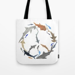 Peace for Sharks Tote Bag
