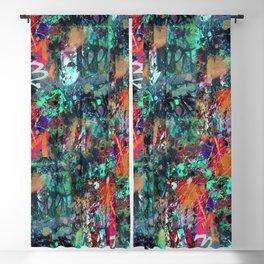 Graffiti and Paint Splatter Blackout Curtain