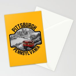 Pittsburgh Steel City Skyline Incline Mount Washington View 412 Print Stationery Cards