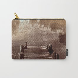 River_brown vintage style Van Dyke print Carry-All Pouch