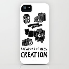 Weapons Of Mass Creation - Photography (clean) iPhone Case