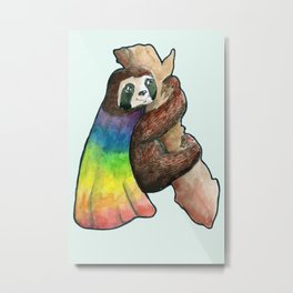 the gay hero sloth Metal Print