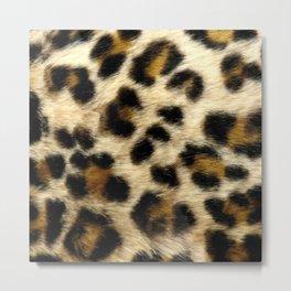 Leopard Print Pattern Animal Print Design Metal Print