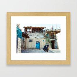 Blue in Safed Framed Art Print