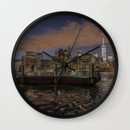 Manhattan Sunset Glow Wall Clock