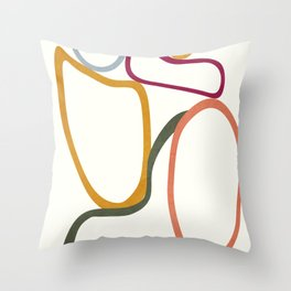 Colorful Flow III Throw Pillow